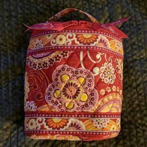 Vera Bradley ZipAround Cosmetic bag Raspberry Fizz